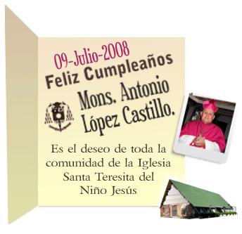 Feliz Cumpleanos Monsenor Antonio Lopez Castillo