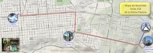 Mapa Recorrido de la Procesión, haga click para agrandar