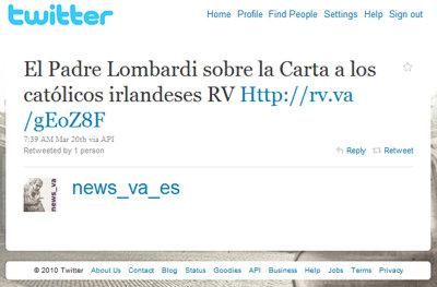 Perfil del @news_va_es en Twitter